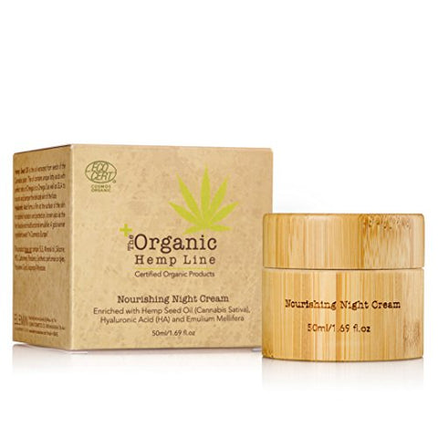 The Organic Hemp Line Nourishing Night Cream with Hemp Seed Oil & Ultra Moisturizing Hyaluronic Acid - ShopEvoMine Hemp and Bamboo