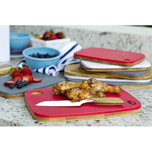 Flip Chop Reversible, Bamboo and Plastic Cutting Board, 11