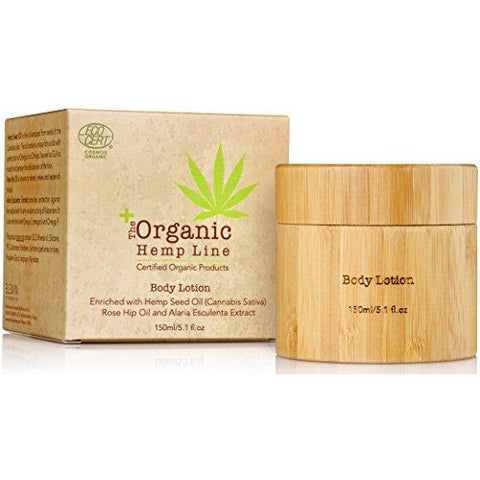 The Organic Hemp Line Body Lotion with Hemp Seed and Rose Hip Oils - ShopEvoMine