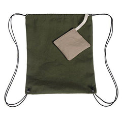 Hemp Power Bag Drawstring Backpack - Green