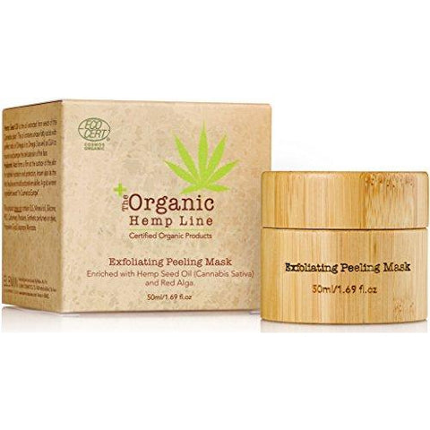 The Organic Hemp Line Exfoliating Peeling Mask with Hemp Seed Oil & Red Algae - ShopEvoMine Hemp and Bamboo