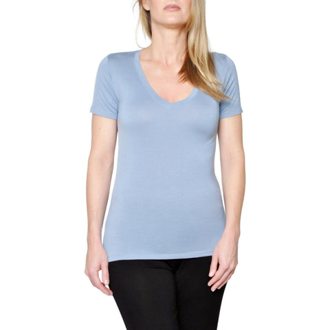 "Women's Bamboo ""Kennedy"" V-Neck- in Slate"