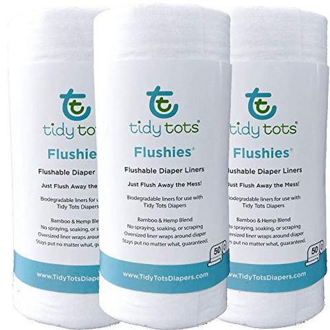 Flushies Organic Hemp Biodegradable Diaper Liners 3 pack