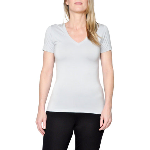 "Women's Bamboo ""Kennedy"" V-Neck- in Storm"