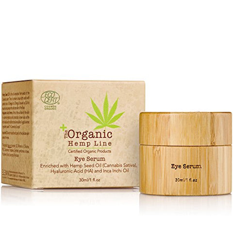 The Organic Hemp Line Eye Lifting Serum with Hemp Seed Oil, Hyaluronic Acid and Inca Inchi Oil - ShopEvoMine Hemp and Bamboo