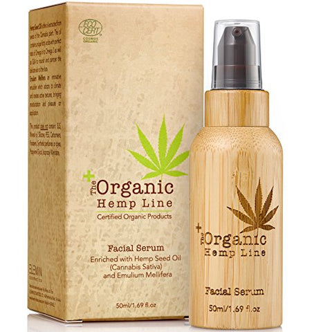 The Organic Hemp Line Anti-Aging Facial Serum with Hemp Seed Oil & Hyaluronic Acid - ShopEvoMine Hemp and Bamboo