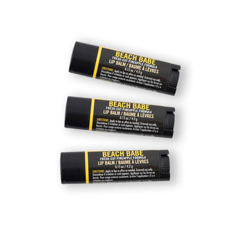 Beach Babe Hemp Lip Balm 3 Pack