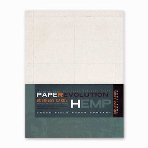 Hemp Heritage Blank Business Cards Pack from Evolution Mine
