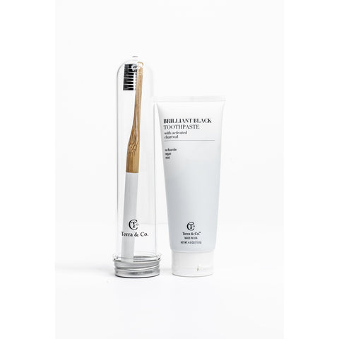 Brilliant Black Bamboo Oral Care Set