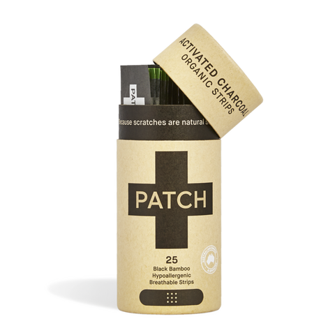 PATCH Natural Organic Bamboo Bandages - Charcoal