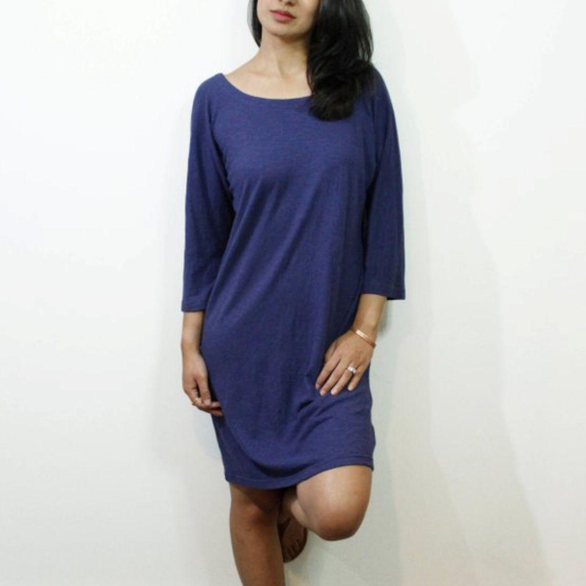 Women's Hemp V Cut Dress