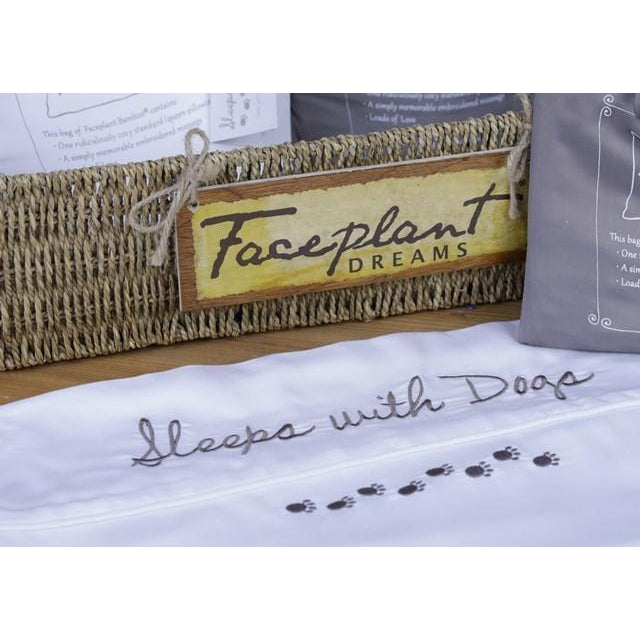 Sleeps With Dogs ~ Faceplant Bamboo® Satin Pillowcase