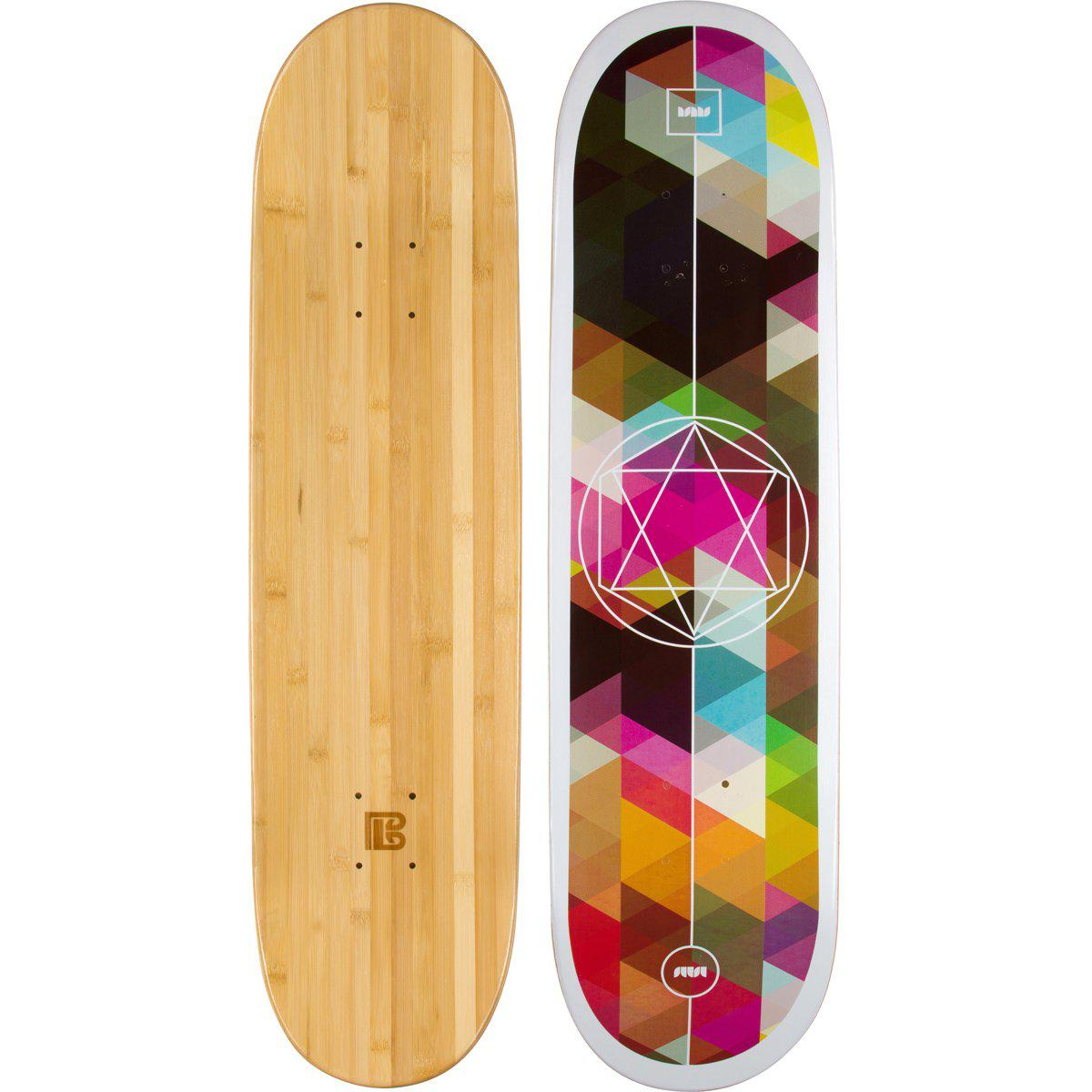 Evolution Mine - Bamboo Skateboard - Deck -Geometricity