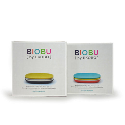 "Gusto Bamboo Fiber 9"" Medium Plate Set by Ekobo"