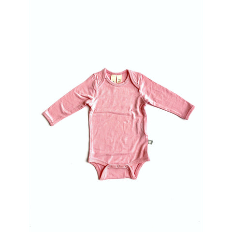 Baby Bamboo Long Sleeve Onesie in Petal
