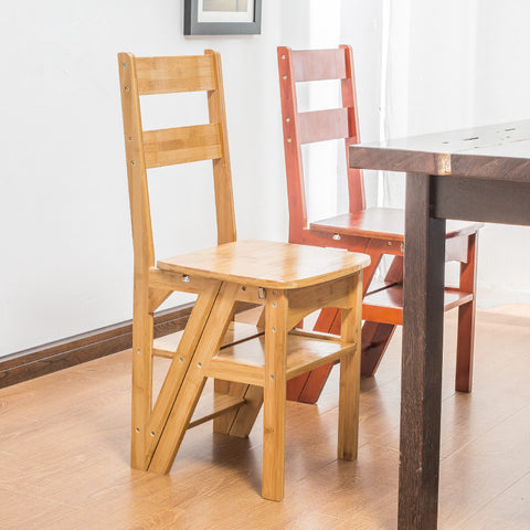 Natural Bamboo Multi-functional Ladder Chair - ShopEvoMine Hemp and Bamboo