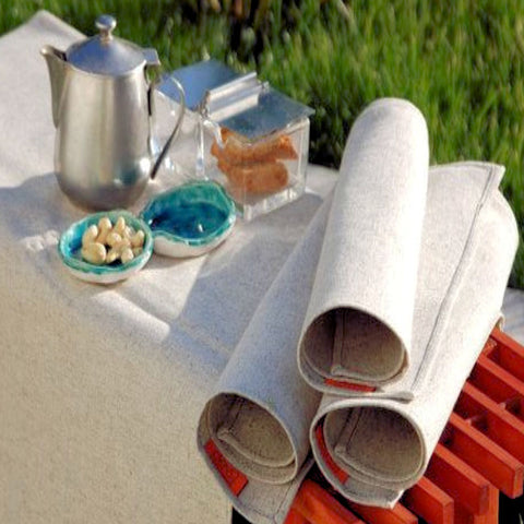 Organic Hemp Tablecloth + 6 Hemp Napkins from Evolution Mine