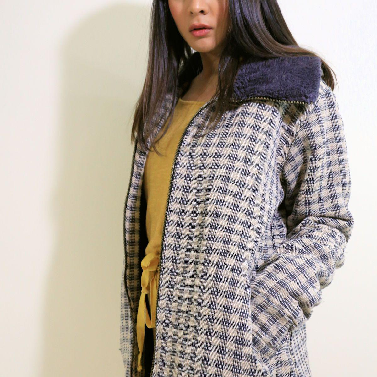 Nepali Hemp Plaid Jacket