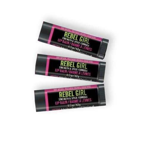 Rebel Girl Hemp Lip Balm 3 Pack