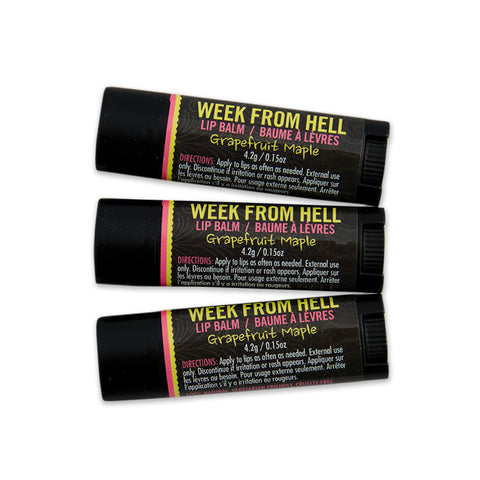 Week From Hell Hemp Lip Balm 3 Pack