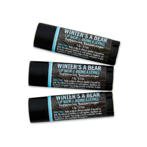 Winter's A Bear Hemp Lip Balm 3 Pack