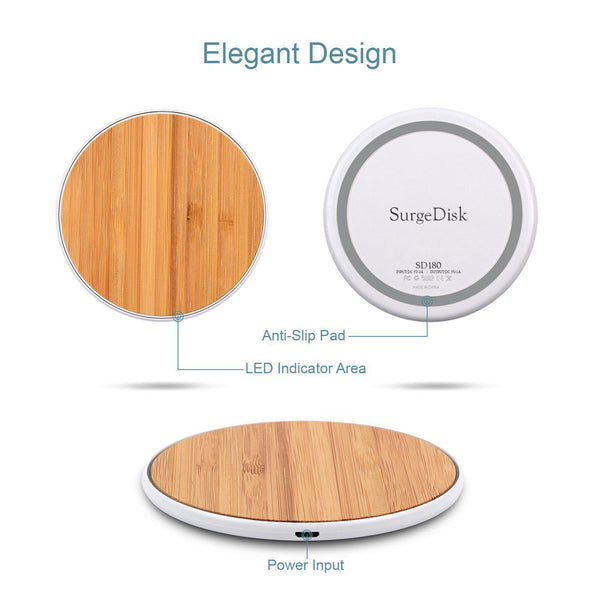Evo Mine Bamboo Wireless Charger - Naked Series