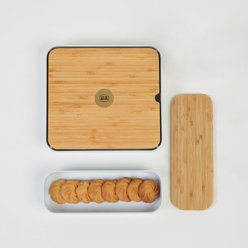 Bamboo Tea Tray Set w/trays