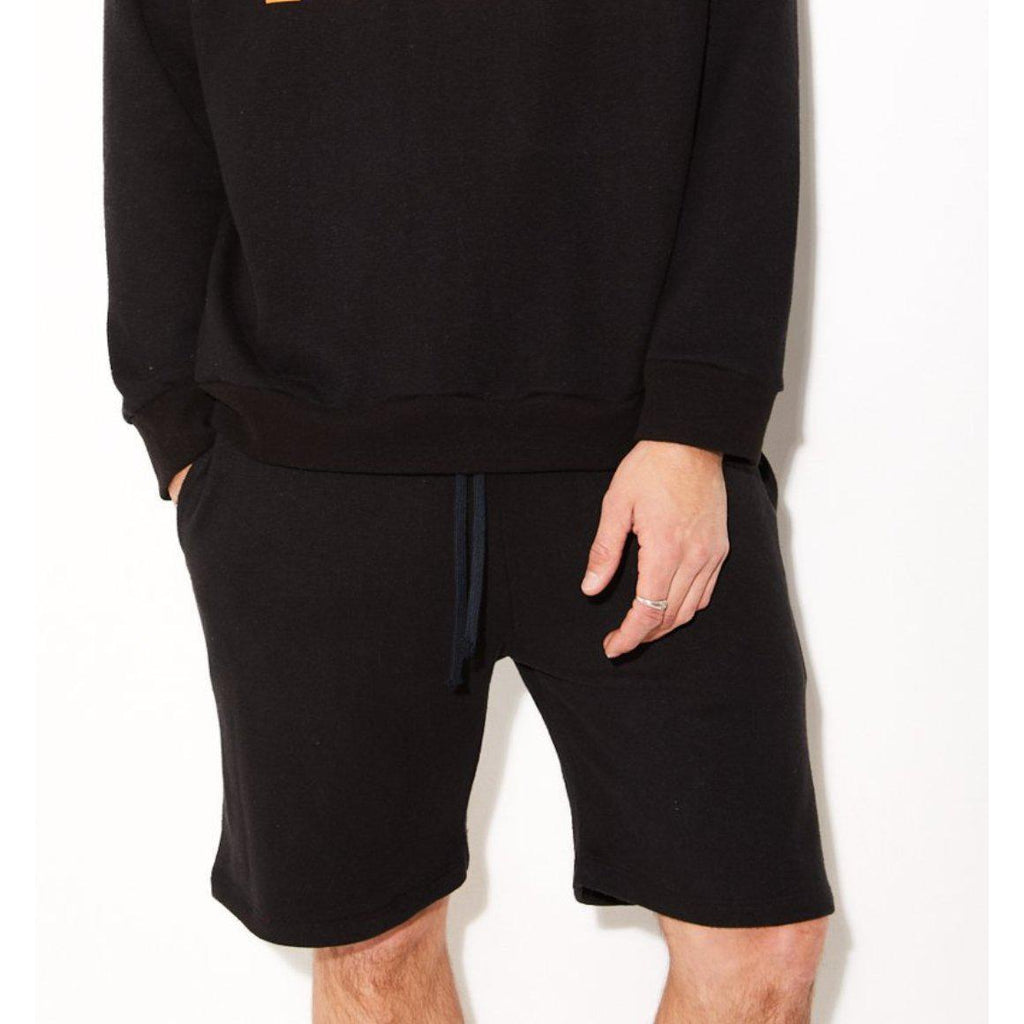 Men's Black Hemp Sweatshorts