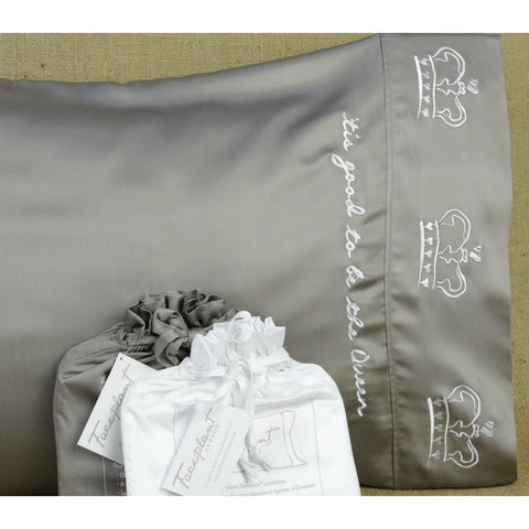 Tis Good To Be The Queen - Faceplant Bamboo Satin Pillowcase