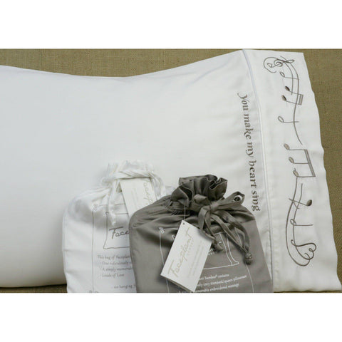 You Make My Heart Sing - Faceplant Bamboo Satin Pillowcase