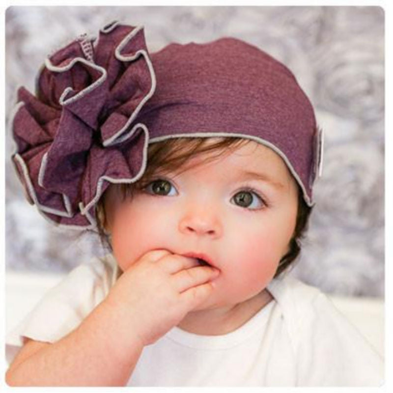 Woombie Bamboo Mod Baby Flower Hat