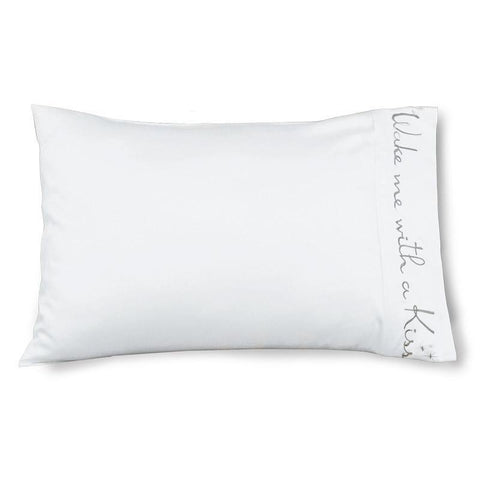 Wake Me With A Kiss - Faceplant Bamboo Satin Pillowcase