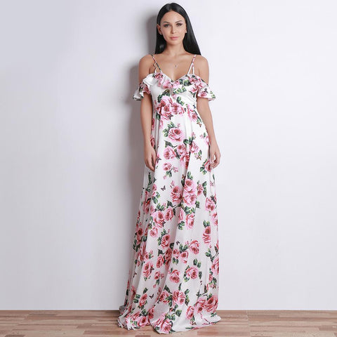 Image of Misa Floral Formal Dress, Maxi Dress - Viva Devine