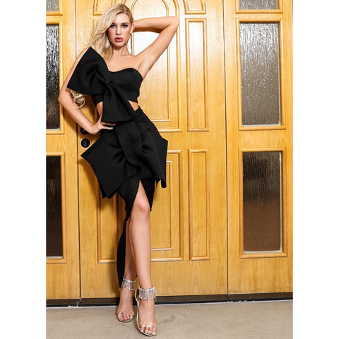 Image of Tierra Bow Two Pieces Set Dress