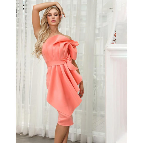 Image of Joella Bow Ruffles Dress