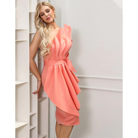 Joella Bow Ruffles Dress