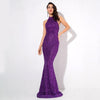 Audrey Glitter Open Back Gown | Purple, Formal Dress - Viva Devine