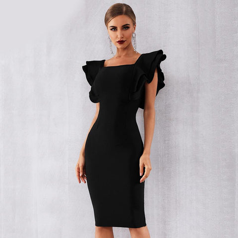Image of Camille Butterfly Sleeves Bodycon Dress