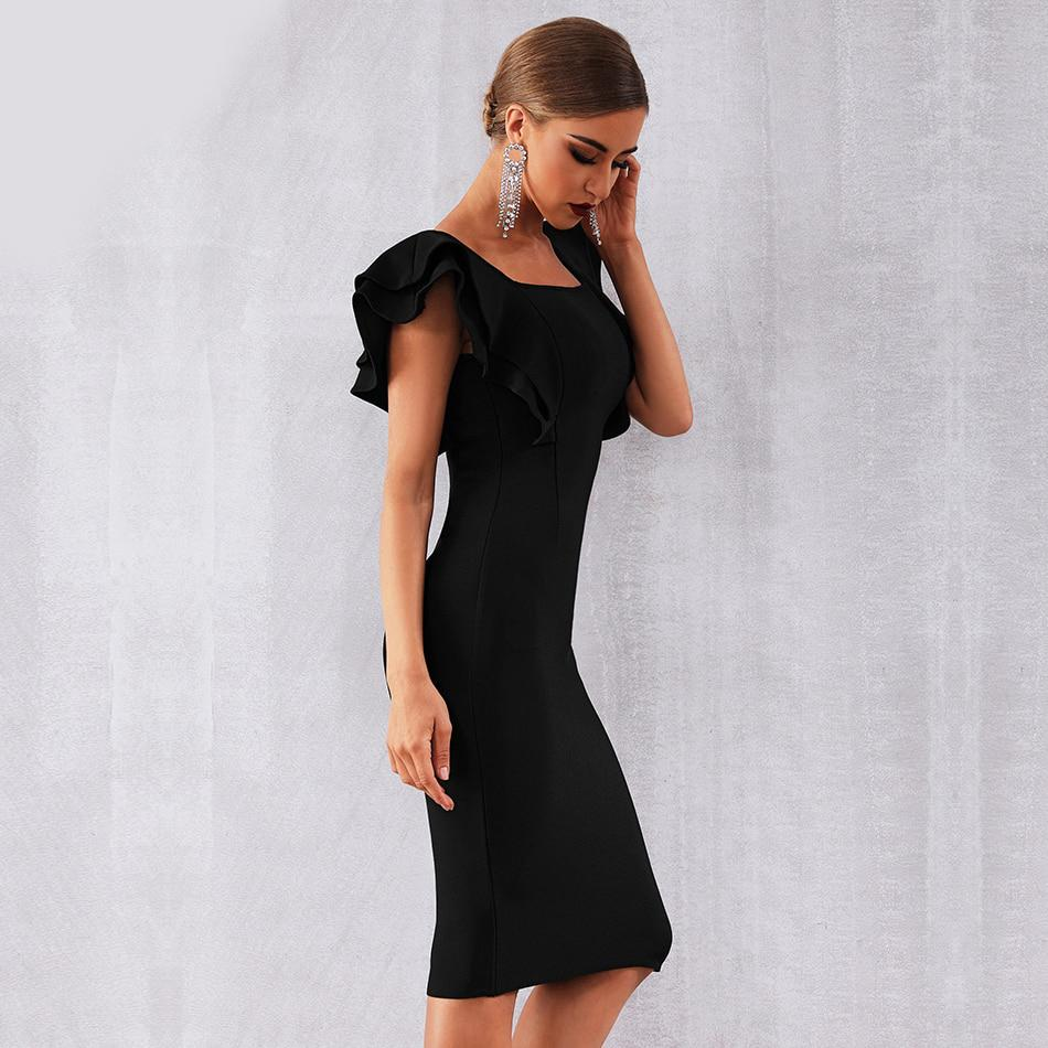 Camille Butterfly Sleeves Bodycon Dress