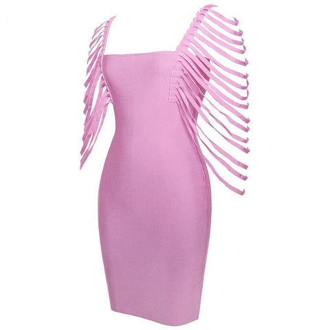 Aviana Fringe Dress, Bandage Dress - Viva Devine