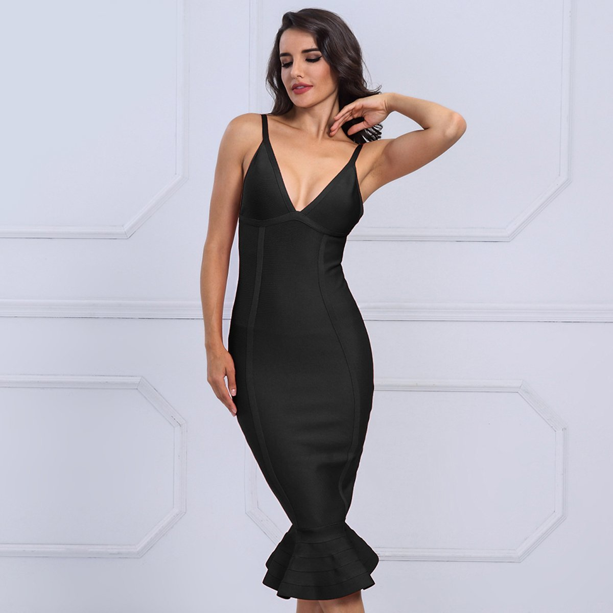 Glenda Dress| Black, Bandage Dress - Viva Devine