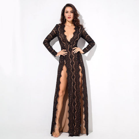 Image of Tina Long Sleeve Formal Dress - Viva Devine
