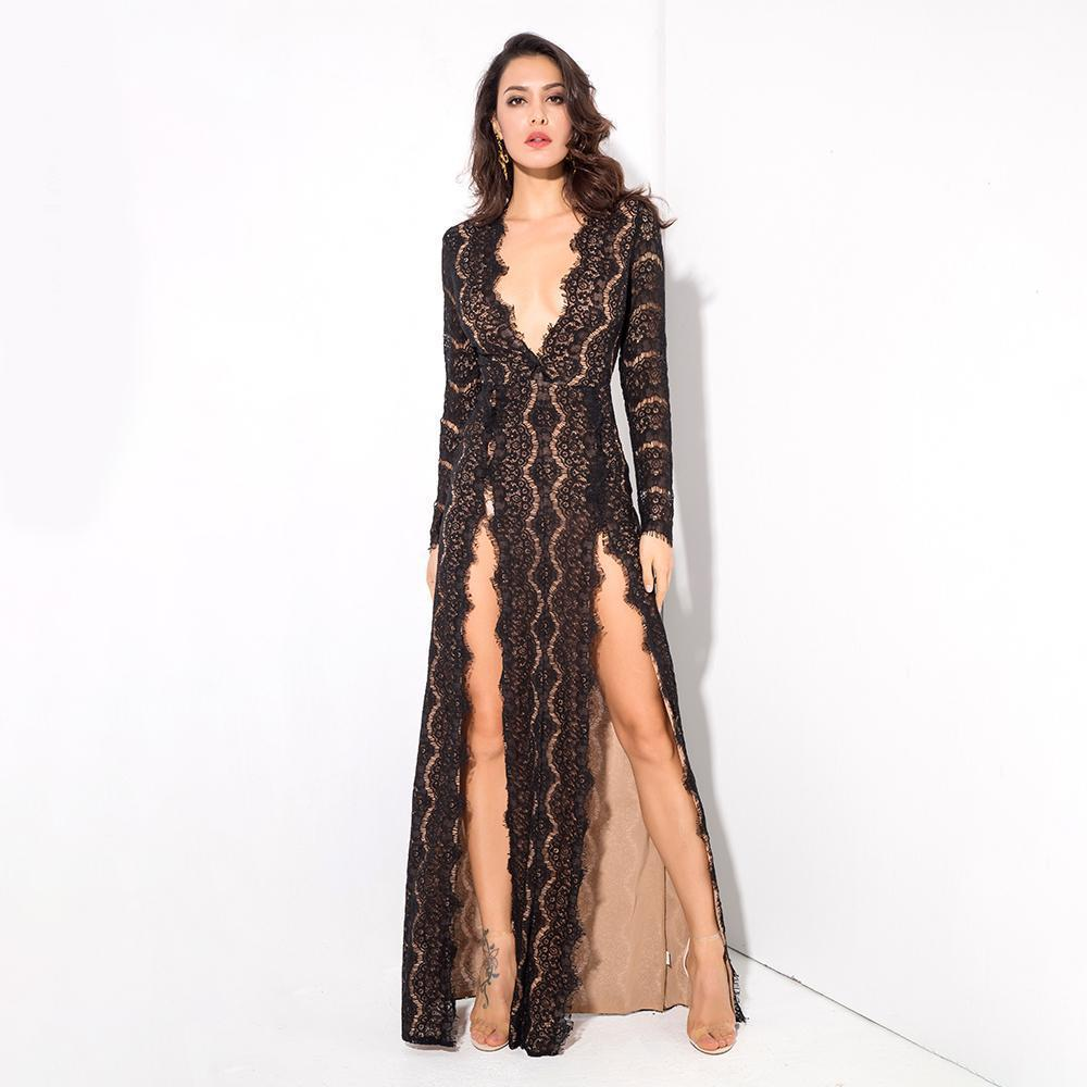 Tina Long Sleeve Formal Dress - Viva Devine