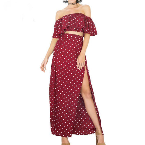 Image of Lucia Dot Two Piece Set, Two Piece - Viva Devine