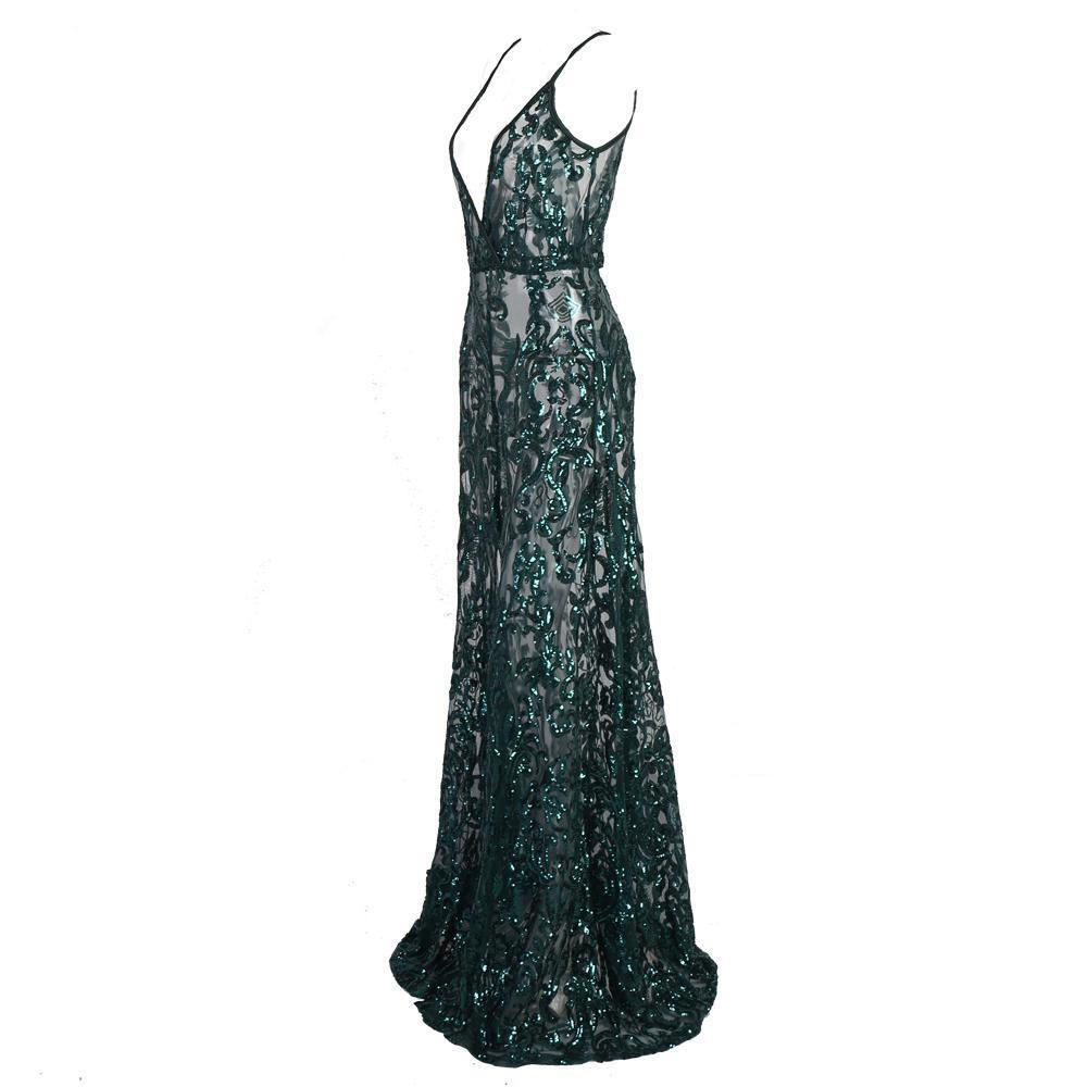 Serena See Through Formal Dress - Viva Devine