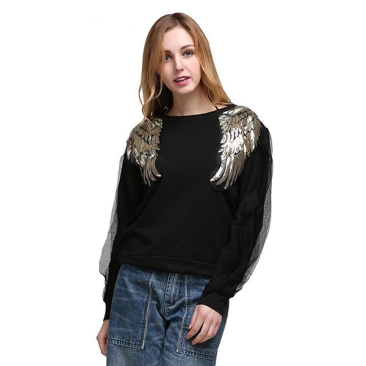 Find Your Wings Sweater Black