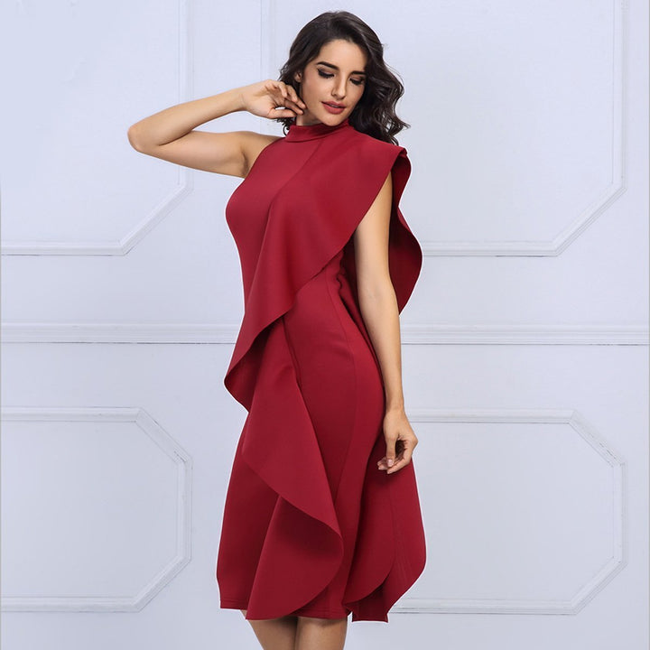 Florence Dress | Wine Red