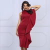 Florence Dress | Wine Red, Bandage Dress - Viva Devine