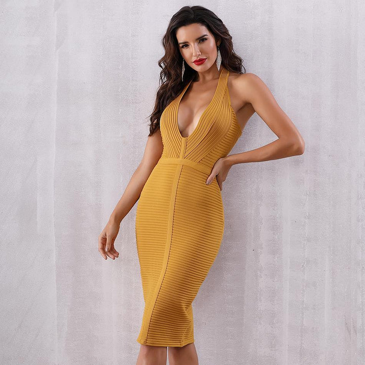 Harlie Halter Bandage Dress