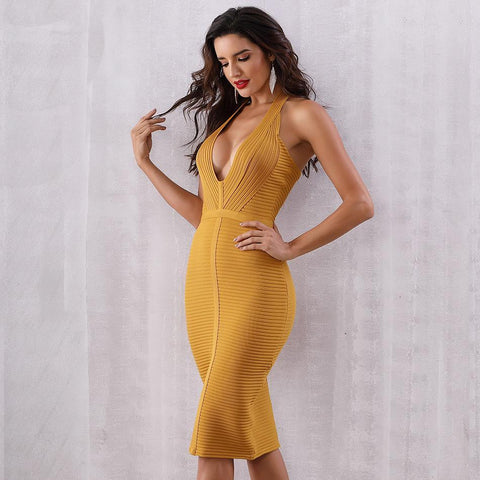 Image of Harlie Halter Bandage Dress